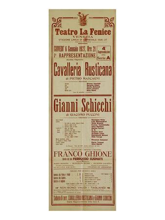 Mascagni & Puccine: Two Operas Prints