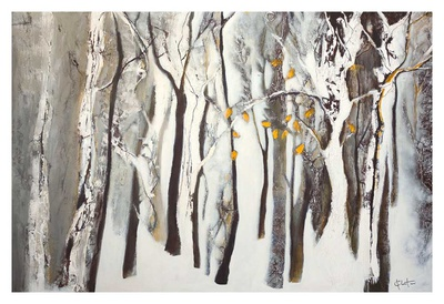 La forêt blanche Prints by Kathleen Cloutier