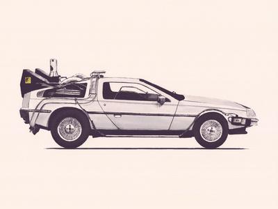 Delorean Back To The Future Reprodukcja