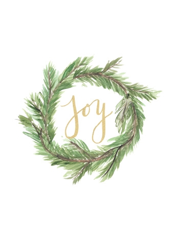 Wreath Joy Posters by  Jetty Printables