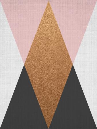 Geometric Pink Bronze Prints by  LILA X LOLA