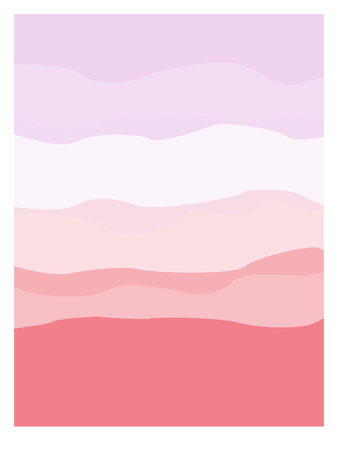 Coral Lavender Abstract ポスター :  Jetty Printables