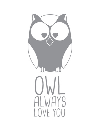 Grey Owl Prints by  Jetty Printables