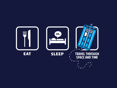 Eat, Sleep, Who - Geek Slogan Posters by  Boots