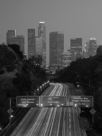 California, Los Angeles, Route 110, USA Photographic Print by Alan Copson