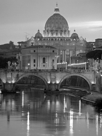St. Peter's Basilica, Rome, Italy Photographic Print by Walter Bibikow