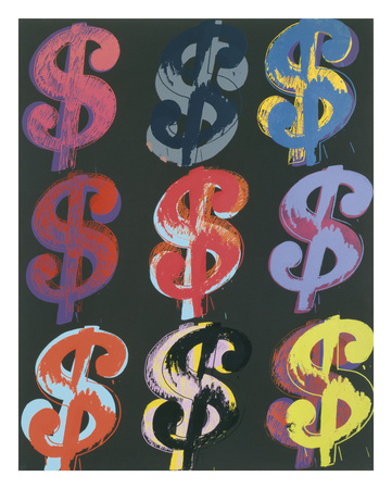 $9, 1982 (on black) Posters by Andy Warhol