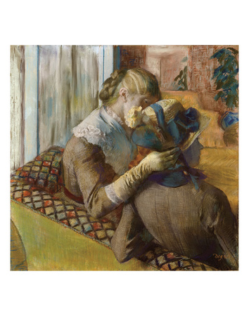At the Milliners, 1881 Print by Edgar Degas