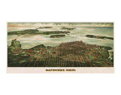 Bird's Eye View of Sandusky, Ohio, 1898 Poster by  Alvord Peters Co.