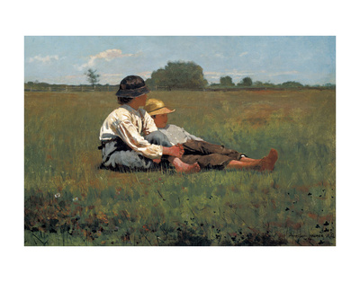 Boys in a Pasture, 1874 Art by Winslow Homer