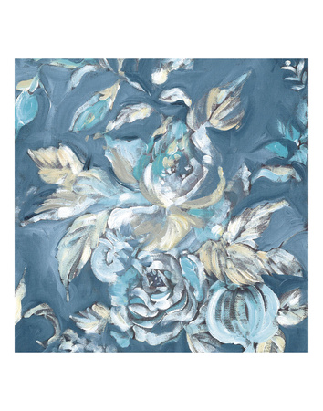 Blue Rose Print by Stacey Wolf