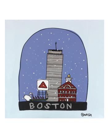 Boston Snow Globe Posters by Brian Nash