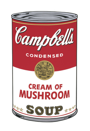 Campbell's Soup I: Cream of Mushroom, 1968 Prints by Andy Warhol