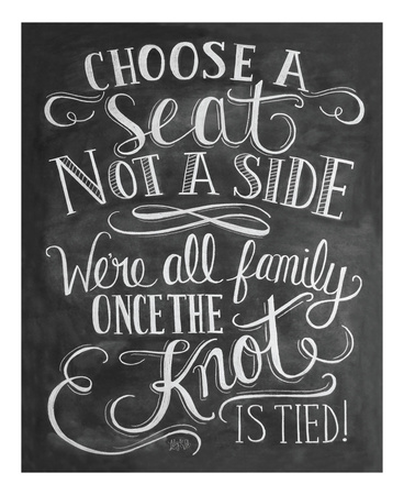 Choose A Seat Not A Side Prints by LLC., Lily & Val