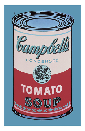 Colored Campbell's Soup Can, 1965 (pink & red) Stampe di Andy Warhol