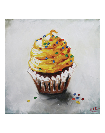 Cupcake 123 Prints by  Roz