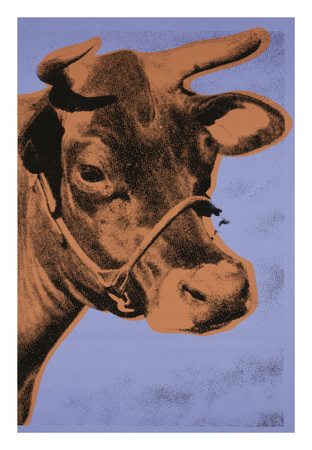 Cow, 1971 (purple & orange) Plakater af Andy Warhol