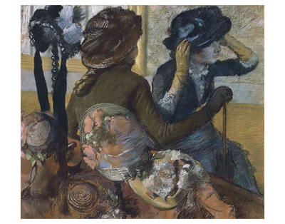 Dans la chapellerie, 1882 Prints by Edgar Degas
