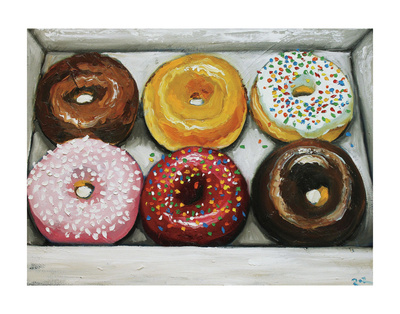 Donuts 13 Prints by  Roz
