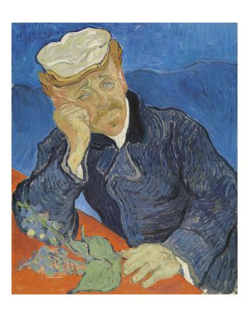 Dr. Paul Gachet, 1890 Print by Vincent van Gogh