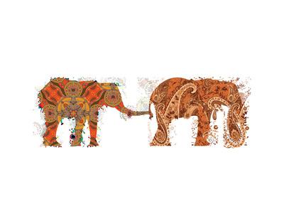 Elephants Walking Art by Teofilo Olivieri