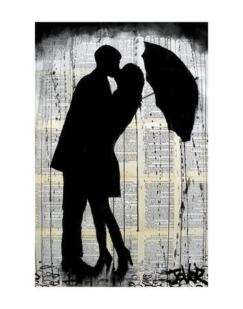 Rainy Day Romantics Prints by Loui Jover