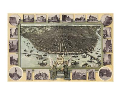 Saint Louis, Missouri in 1896 Prints by  Graf