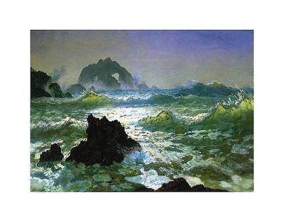 Seal Rock Posters by Albert Bierstadt