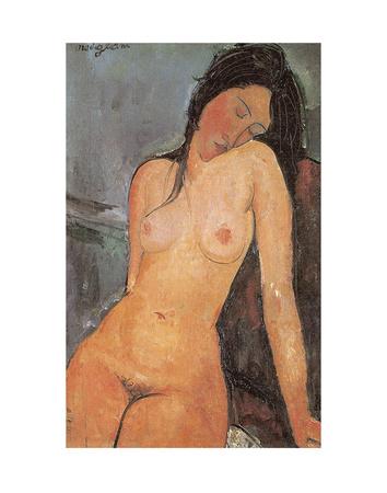 Seated Nude, ca. 1917 Print by Amedeo Modigliani