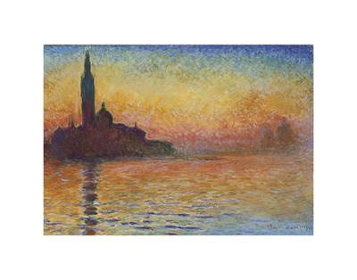 San Giorgio Maggiore at Dusk, 1908 Posters by Claude Monet