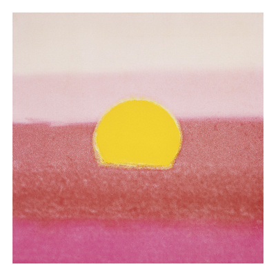 Sunset, 1972 (pink) Posters af Andy Warhol