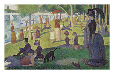 Sunday Afternoon on the Island of Grand Jatte 1864-6 Posters by Georges Seurat