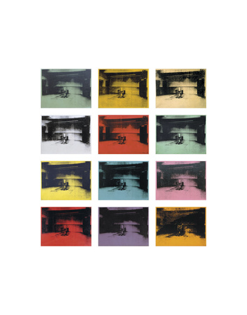 Twelve Electric Chairs, 1964/65 Posters by Andy Warhol