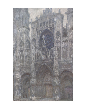 The Cathedral in Rouen, The Portal, Grey Weather, 1892 Posters by Claude Monet