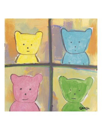 Teddy can never decide which season he is Prints by Brian Nash
