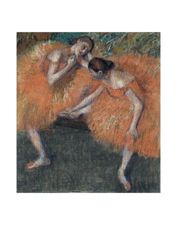 Two Dancers, ca. 1898 Art by Edgar Degas
