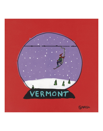 Vermont Snow Globe Prints by Brian Nash