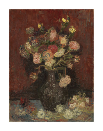 Vase with Chinese Asters and Gladioli, 1886 Posters by Vincent van Gogh