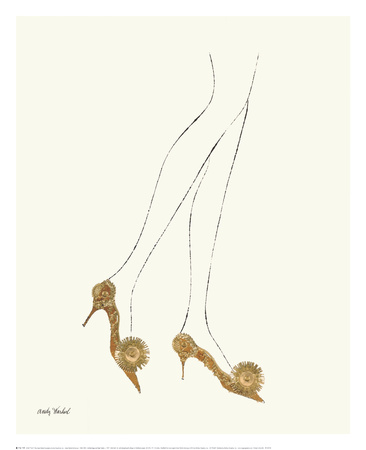 Untitled (Legs and High Heels), c. 1957 Prints by Andy Warhol