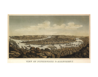 View of Pittsburgh & Allegheny, 1874 Poster by  Krebs