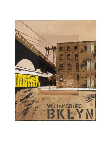 Williamsburg, Brooklyn Print by Mauro Baiocco