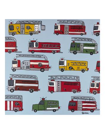 Fire Trucks Prints by Brian Nash