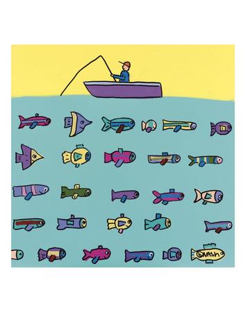 Fishin' Prints by Brian Nash