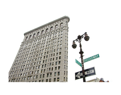 Flatiron Building with Lamp Poster by Erin Clark