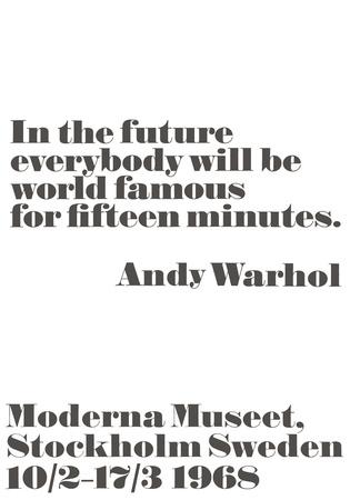 In the future... Stampe di Andy Warhol/ John Melin