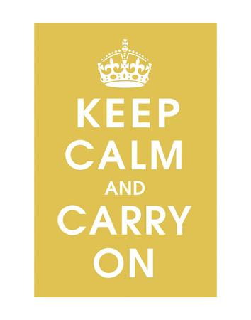 Keep Calm (mustard) Art