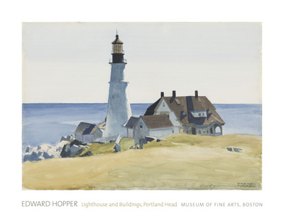 Lighthouse and Buildings, Portland Head, 1927 Art by Edward Hopper