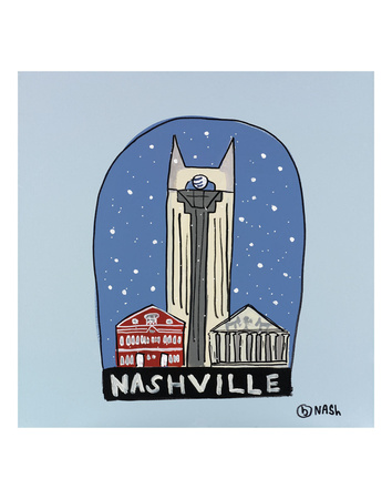 Nashville Snow Globe Prints by Brian Nash