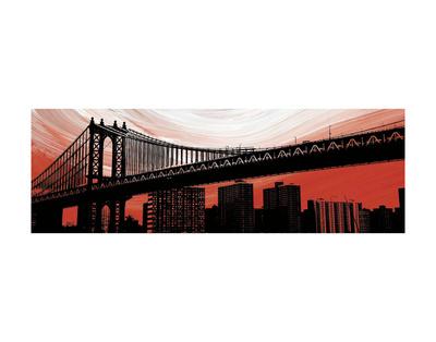 Manhattan Bridge Aura Posters by Erin Clark