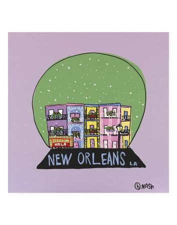 New Orleans Snow Globe Art by Brian Nash